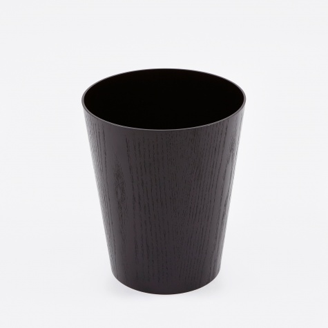 Wooden Paper Basket H30 - Black Ash