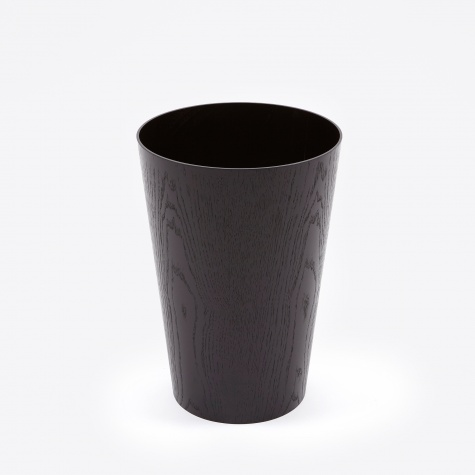 Wooden Paper Basket H40 - Black Ash