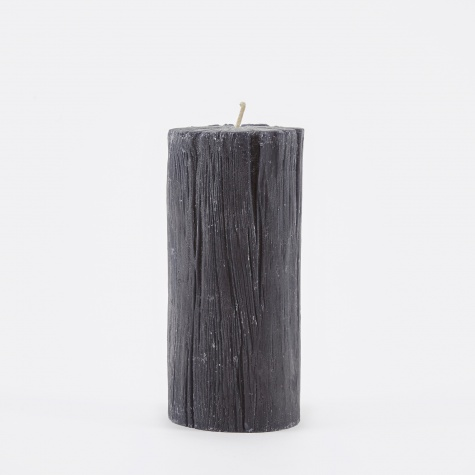 Pillar Candle Charcoal 14.5cm - Simply Black