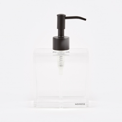 Clear Soap Dispenser Small - Black