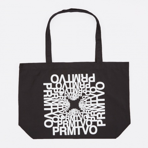 Expanding Logo Tote Bag - Black