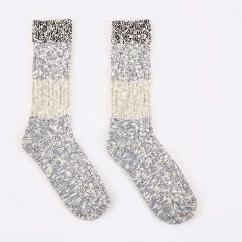 Capri Stripe Socks - Grey