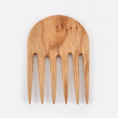Half Moon Comb - Oak