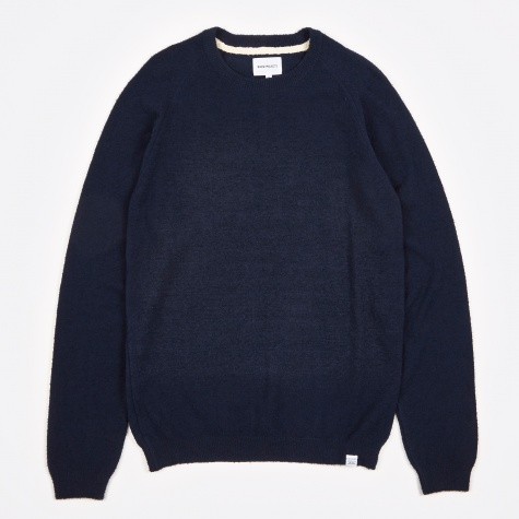 Birnir Cotton Texture Knit - Navy