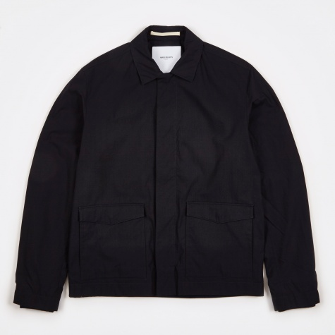 Tyge Light Poplin Jacket - Navy