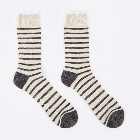 Bjarki Classic Normandy Sock - Ecru
