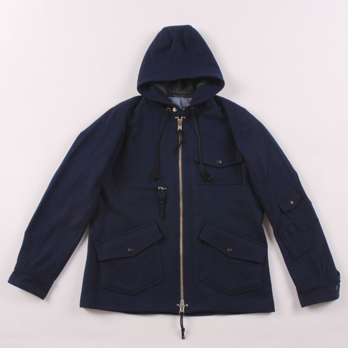 Monitaly Wool field Jacket - Navy Wool (Image 1)