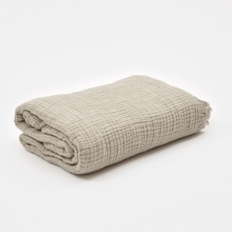 Crinkle Throw - Silver