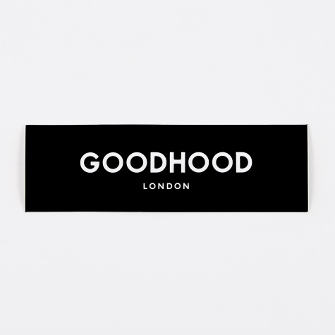 Goodhood London Sticker - Black
