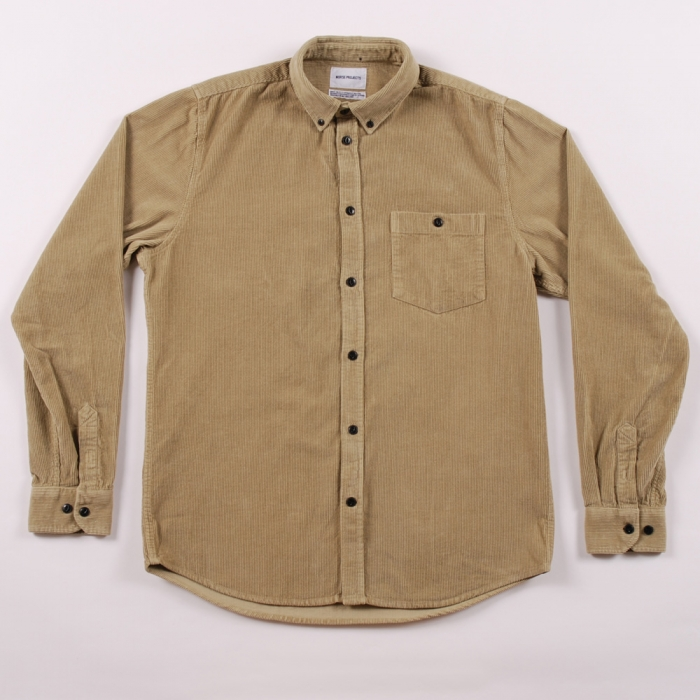 Norse Projects Norse Project Anton Corduroy Shirt - Kelp Khaki (Image 1)