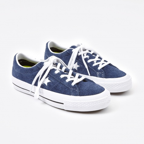 One Star Hairy Suede - Navy/White
