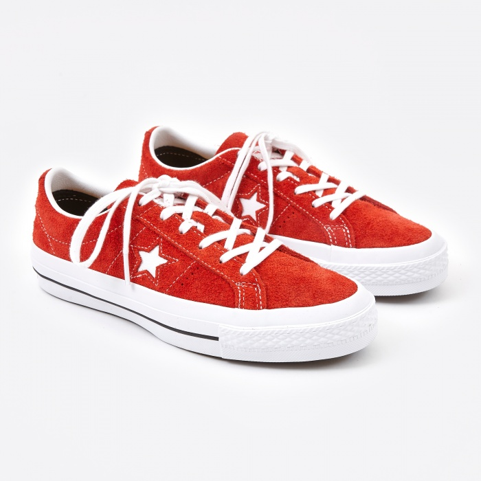 Converse One Star Hairy Suede - Red/White (Image 1)