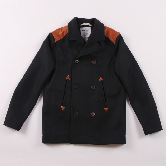 Norse Projects Norse Project Birk Sailor Jacket - Navy (Image 1)