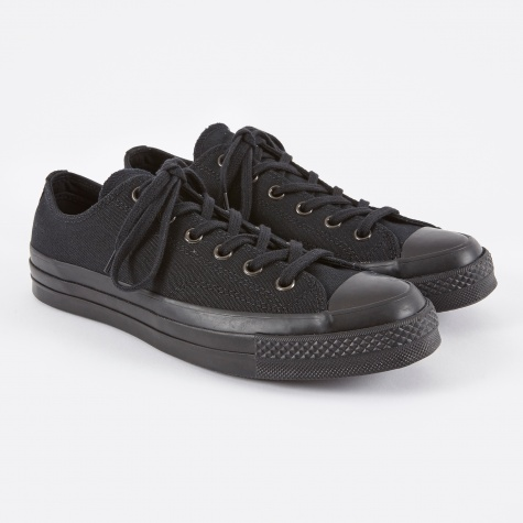 1970s Chuck Taylor All Star Ox - Black Monochrome