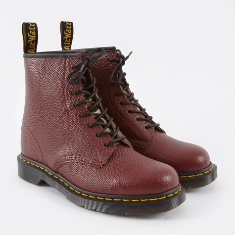 Dr.Martens x Stussy 1640 8 Eye Boot - Cherry Red Pebble