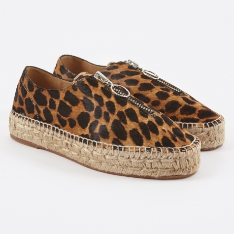 Devon - Black/Natural Leopard