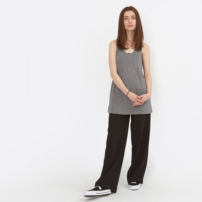 Alexander Wang T By Alexander Wang Classic Tank With Pocket - Heather Grey (400 (Image 1)