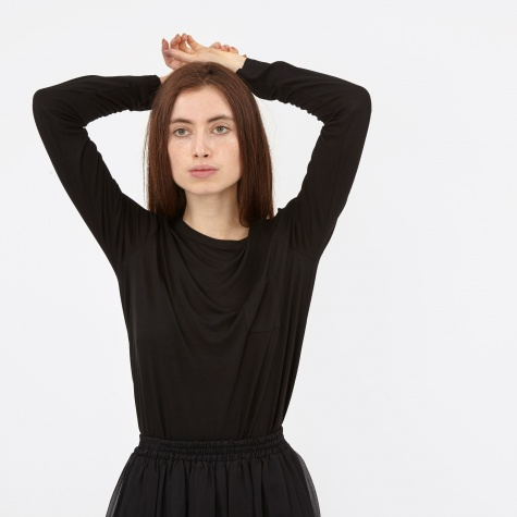 T By Alexander Wang Classic Long Sleeve - Black (400300C)
