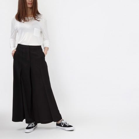 T By Alexander Wang Poly Crepe Flared Pants - Black (403712P16)