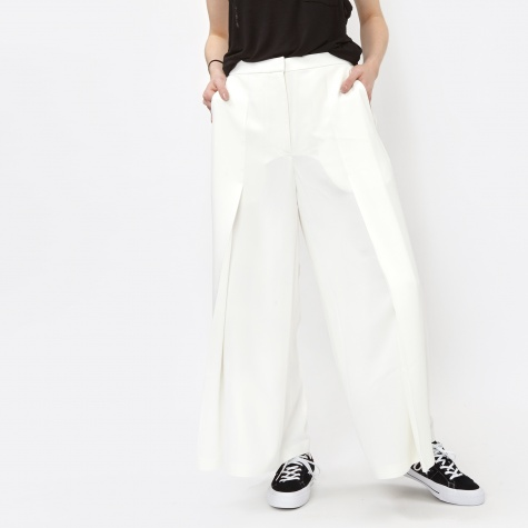 T By Alexander Wang Poly Crepe Flared Pants - Ivory (403712P16)