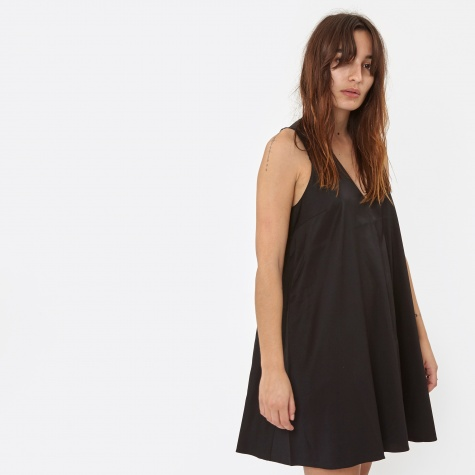 T By Alexander Wang Stretch Silk Twill Sleeveless Trapeze Dress