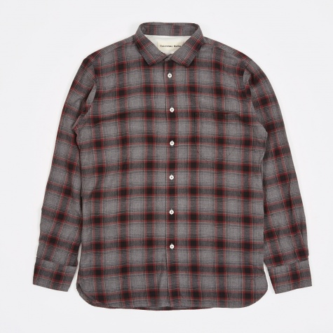Lumber Check Classic Shirt - Grey/Red