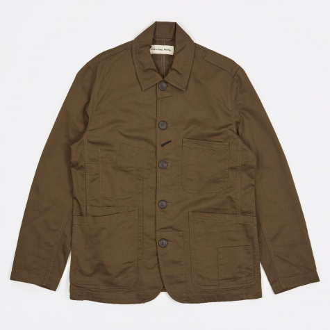 Twill Bakers Jacket - Military Olive