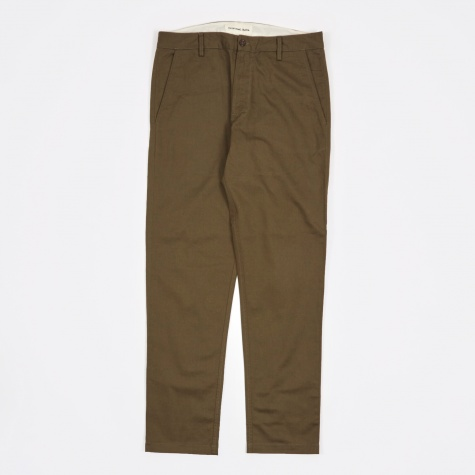 Twill Aston Pant - Military Olive