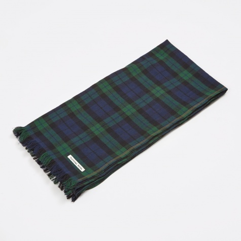 Flannel Check Scarf - Black Watch