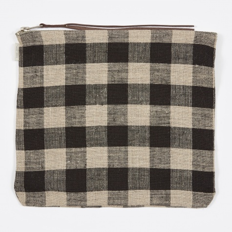 Canna Pouch Black Natural Check - Large