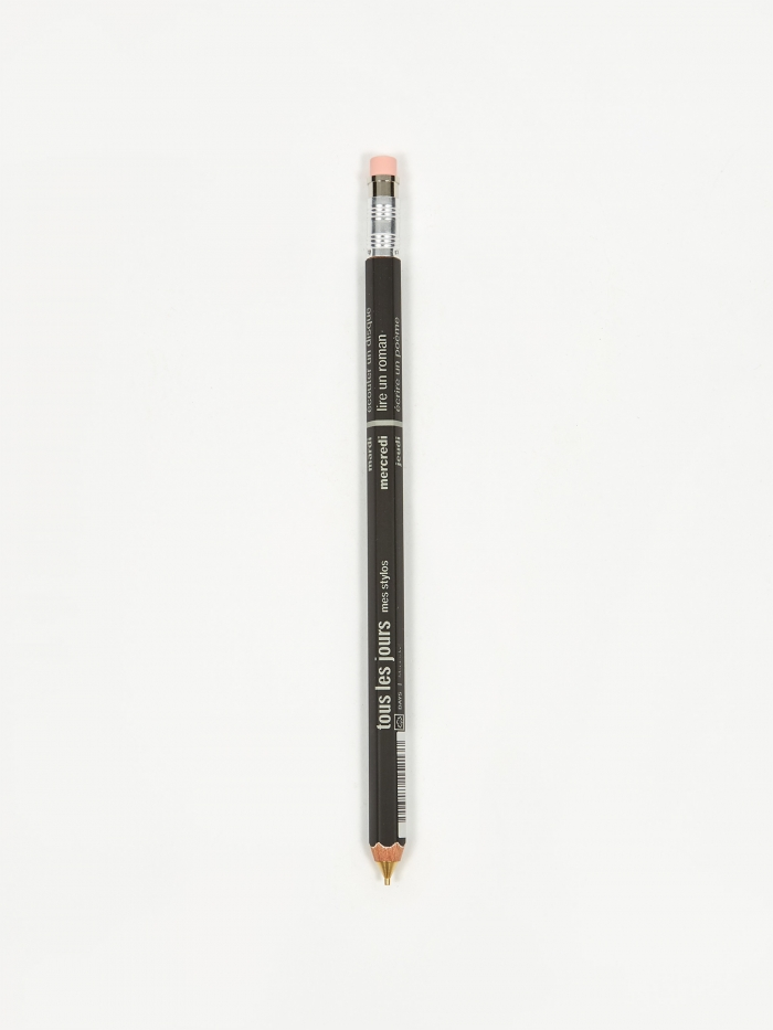 Mark's Inc. DAYS Mechanical Pencil With Eraser - Black (Image 1)