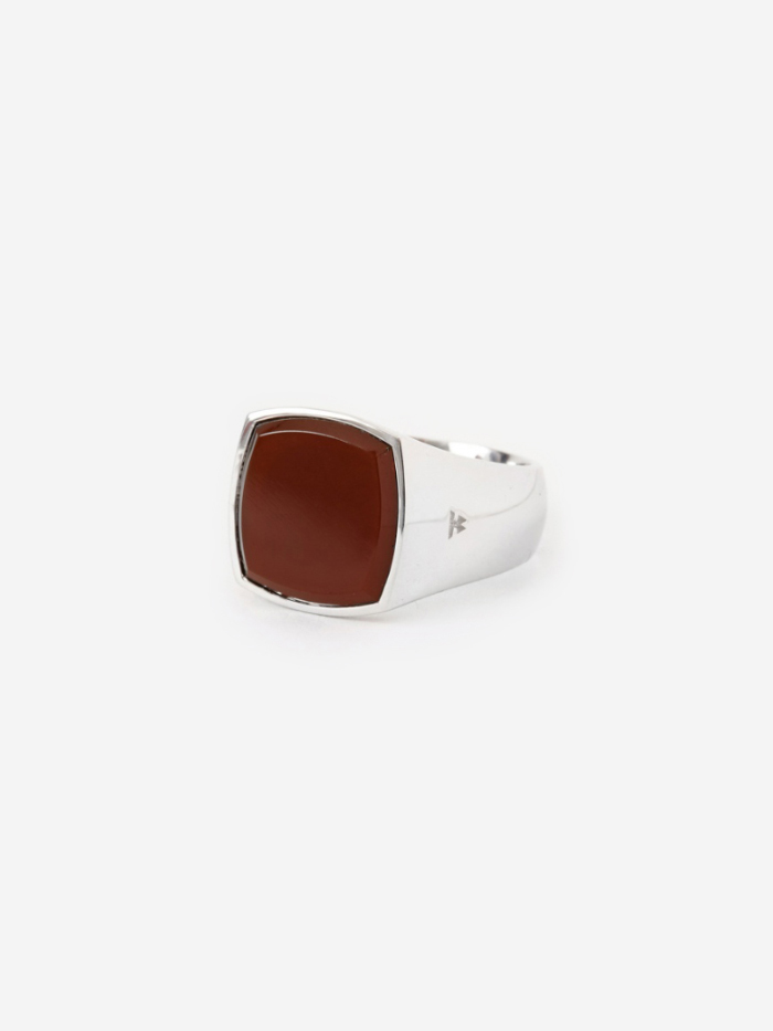 Tom Wood Cushion Ring - Red Agate (Image 1)