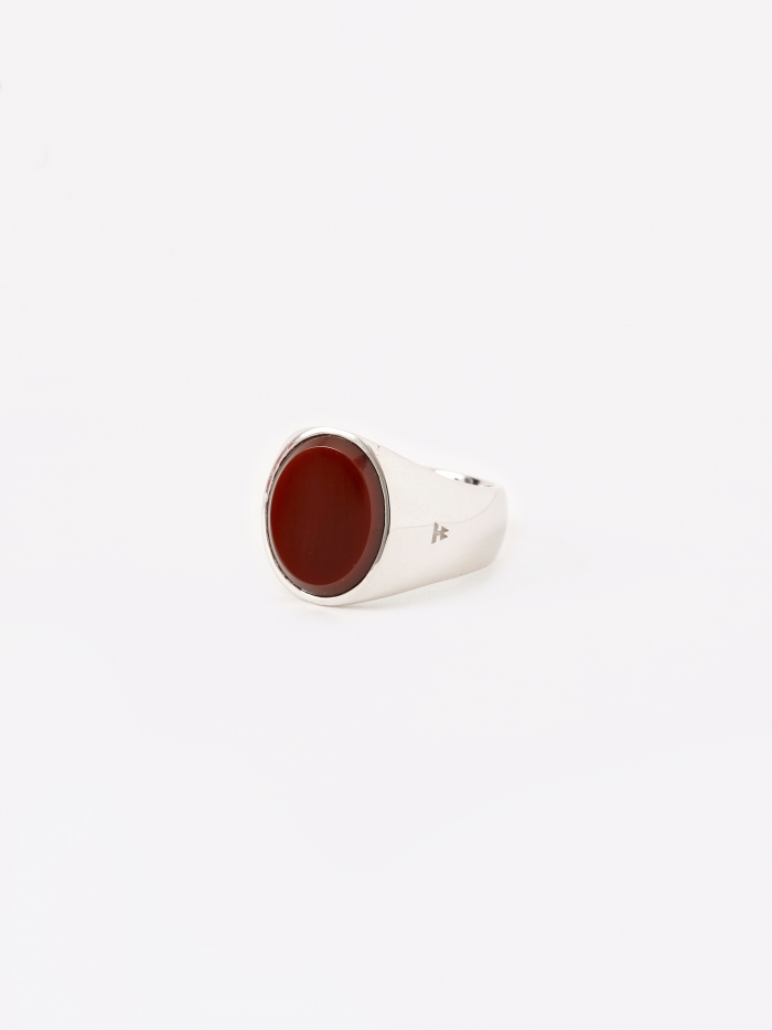 Tom Wood Oval Ring - Red Agate (Image 1)