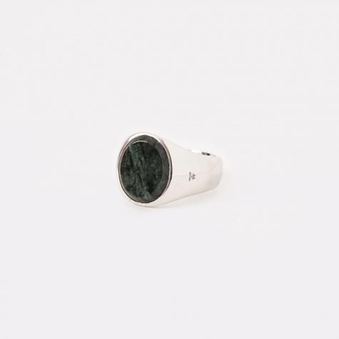 Oval Ring - Green Marble