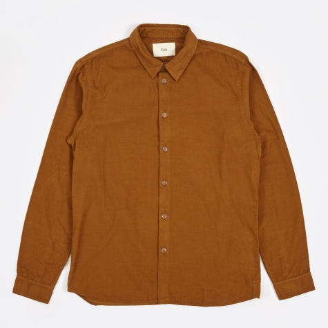 Baby Cord Shirt - Deep Rust