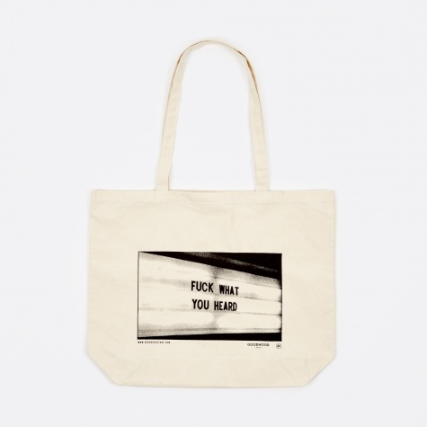 Fuck What You Heard Tote Bag - Natural