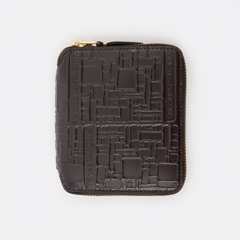 Comme des Garcons Wallet Embossed Logotype M (SA2100EL) - Black