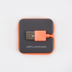 Native Union JUMP Cable 2-in-1 Cable & Portable Charger - Coral