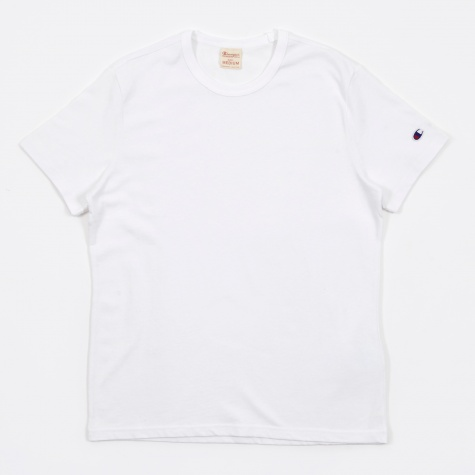 Reverse Weave Crew Neck T-Shirt - White