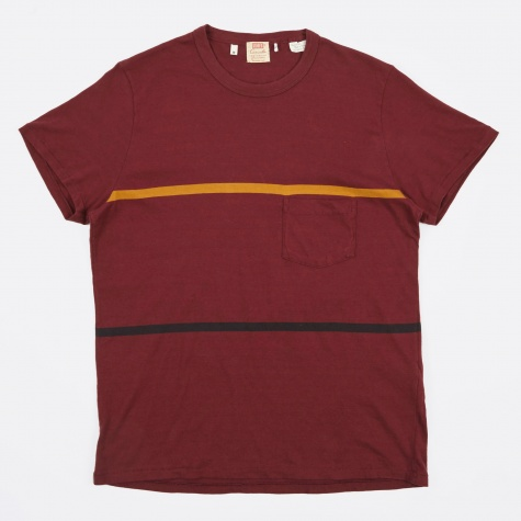 1960s Casuals Stripe - Burgundy/Black/P