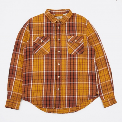 Shorthorn Shirt - Brown/Peanut Plaid