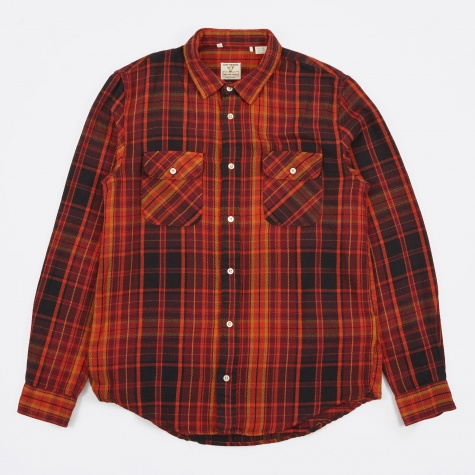 Shorthorn Shirt - Burgundy/Rust/Black P