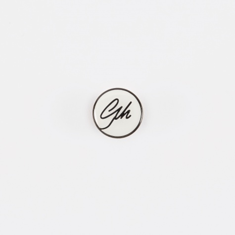 GH Logo Pin Badge - White