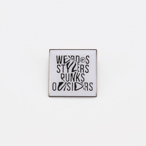Weirdos Pin Badge - White