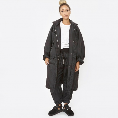 Silk Padded Parka - Black