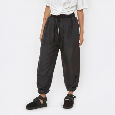 Silk Padded Track Pant - Black