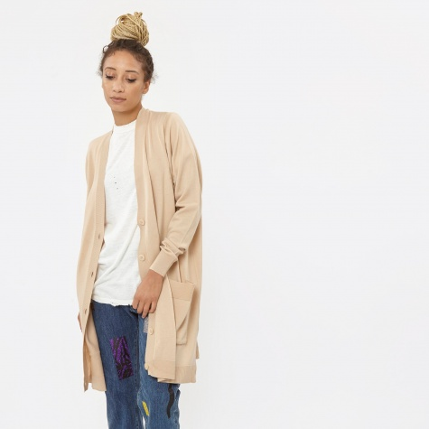 MM6 Oversize Cardigan - Nude