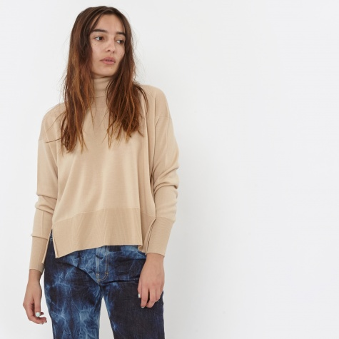 MM6 Baggy Polo Neck - Nude