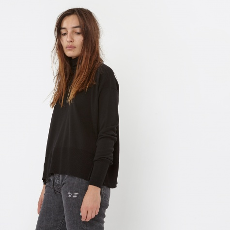MM6 Baggy Polo Neck - Black