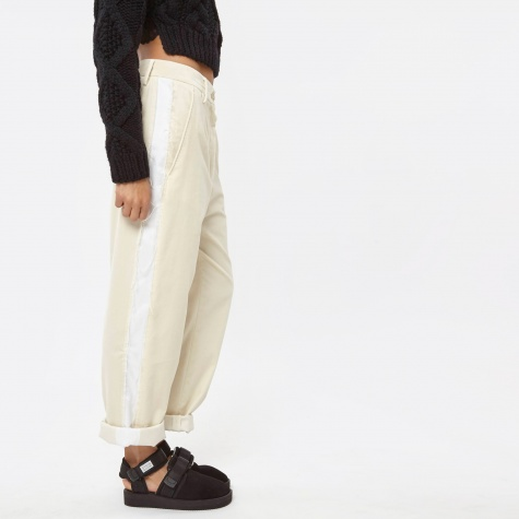 MM6 Frayed Seam Trouser - Calico/Optic White